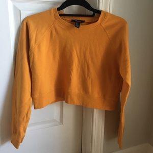Forever 21 mustard long sleeve sweatshirt